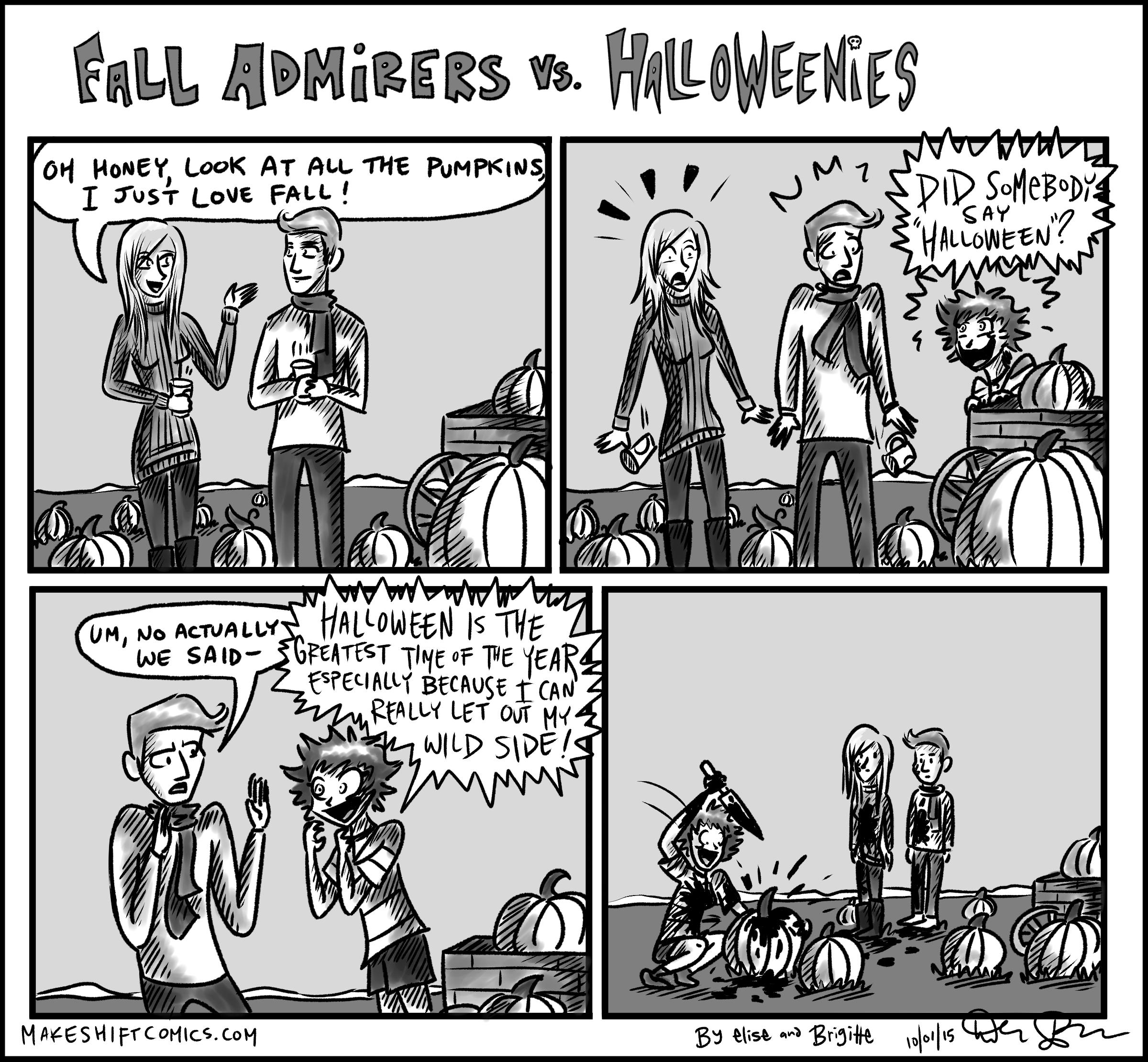 Fall Admirers vs. Halloweenies