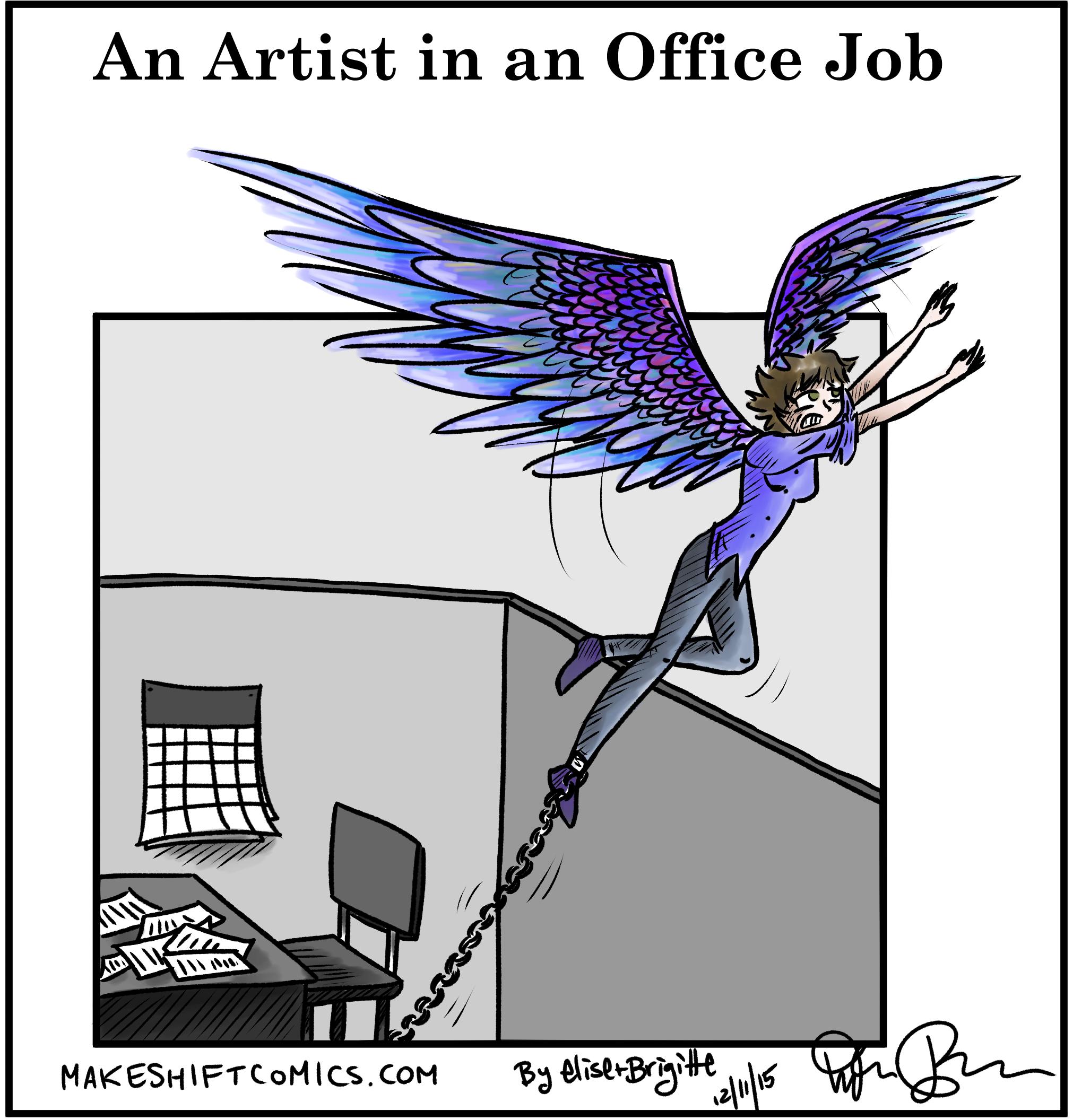 An Artist in an Office Job