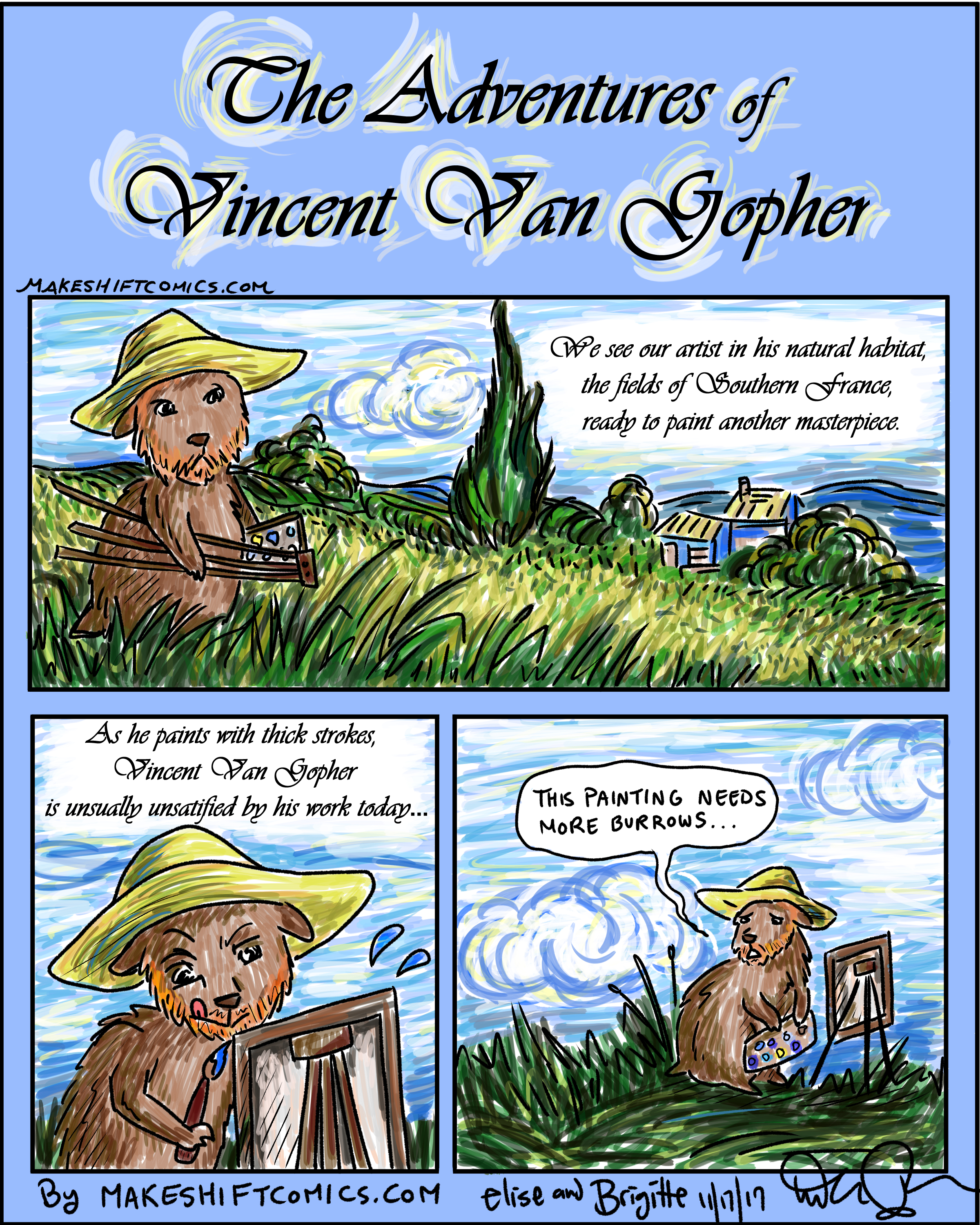 Makeshift Comics The Adventures Of Vincent Van Gopher